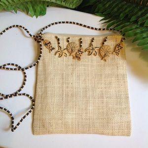 Handbags - NWOT Straw Mini Purse-Seashore